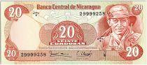 Nicaragua 20 Cordobas,  German Pomares Ordonez - 1987