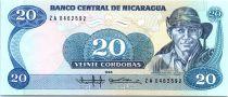 Nicaragua 20 Cordobas Commandant G. Pomares Ordonez - 1985 (1988)
