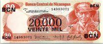 Nicaragua 20.000 Cordobas Commandant G. Pomares Ordonez - 1987