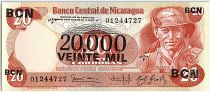 Nicaragua 20000 Cordobas on 20 Cordobas,  German Pomares Ordonez - 1987