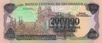 Nicaragua 200.000 Cordobas Général A. C. Sandino - 1990
