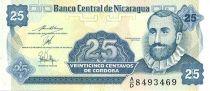 Nicaragua 25 Centavos F.H. Cordoba - Fleur, Armoiries