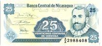 Nicaragua 25 Centavos Fransisco de  Cordoba  - 1991