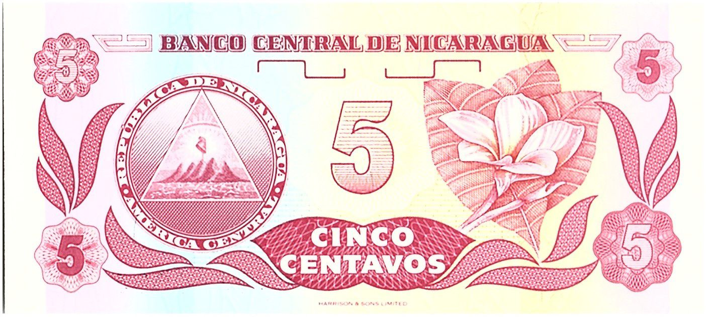 Nicaragua 5 Centavos Fransisco de Cordoba  - 1991