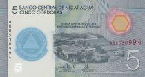 Nicaragua 5 Cordobas, Banque Nationale - Polymer - 2019 (2020) - Neuf