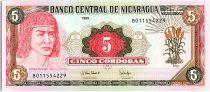 Nicaragua 5 Cordobas, Cacique Diriengen - 1995