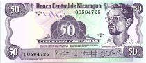 Nicaragua 50 Cordobas,  Carlos Fonseca Amador - 1985