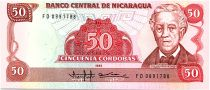 Nicaragua 50 Cordobas,  Jose Dolores Estrada - 1988