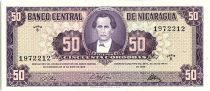 Nicaragua 50 Cordobas,  Maximo Jerez - 1968