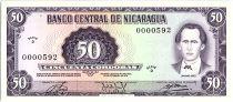 Nicaragua 50 Cordobas,  Maximo Jerez - 1978