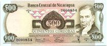 Nicaragua 500 Cordobas,  Ruben Dario - 1979