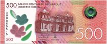 Nicaragua 500 Cordobas, Cathedral - Volcano - 2017 (2019) Polymer UNC