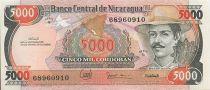 Nicaragua 5000 Cordobas Gal Zeledon - Assemblée Nationale