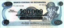 Nicaragua 500000 Cordobas sur 20 Cordobas,  German Pomares Ordonez - 1990