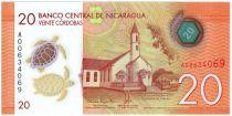 Nicaragua New2.2015 20 Cordobas, Church - Maya Festival - 2015
