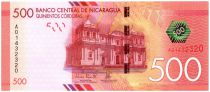 Nicaragua New6.2015 500 Cordobas, Cathédrale - Volcan - 2015