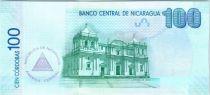 Nicaragua P.208 100 Cordobas, Cathédrale - Calèche - 2015