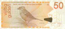 Niederländischen Antillen 50 Gulden, Refous-collared sparrow - 2016