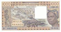 Niger 1000 Francs femme 1981 - Mali - Série D.002