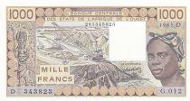 Niger 1000 Francs femme 1985 - Mali - Série G.012