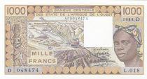 Niger 1000 Francs femme 1988 - Mali - Série L.018