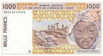 Niger 1000 Francs femme 1998 - Niger