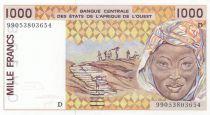 Niger 1000 Francs femme 1999 - Niger