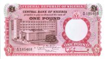 Nigeria 1 Pound - Building, Rural worker - ND (1967)