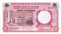 Nigeria 1 Pound - Building, Rural worker - ND (1967)