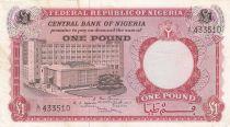 Nigeria 1 Pound ND1967 - Bâtiment, travailleur agricole