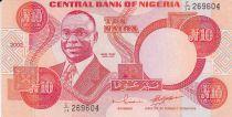 Nigeria 10 Naira - Ivan Nikoku - Mujeres -  2002 - Firma 11