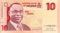 Nigeria 10 Naira Alvan Nikoku - Femmes, jarres - 2015