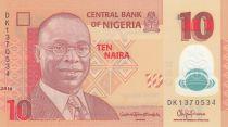 Nigeria 10 Naira Alvan Nikoku - Femmes, jarres - 2016 Polymer