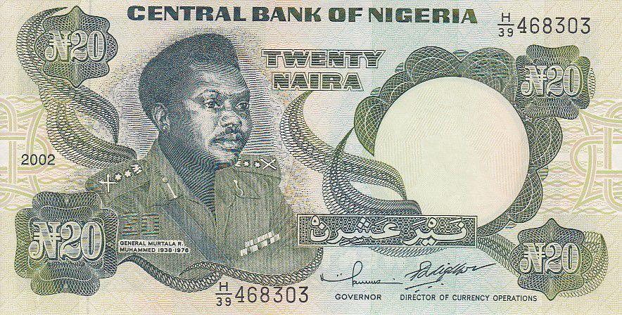 Nigeria 20 Naira - Général M. Muhammed - Armoiries - 2002
