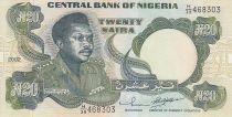 Nigeria 20 Naira - General M. Muhammed - Emblemas - 2002