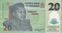 Nigeria 20 Naira - General Murtalla R. Muhammed - Polímero - 2006