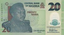 Nigeria 20 Naira 2017 - General Muhammad, Potier - Polymer