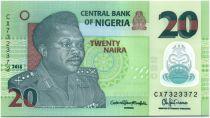 Nigeria 20 Naira Général Muhammad - Potier 2015