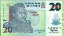 Nigeria 20 Naira General Muhammad - Pottery 2016 Polymer