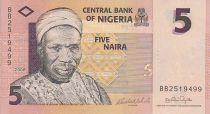 Nigeria 5 Naira - Alhaji Sir Abubakar Tafawa Salewa - Bailarines - 2006