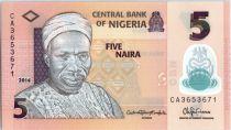 Nigeria 5 Naira A. Sir Abubakar Tafawa Balewa - 2014 Polymer
