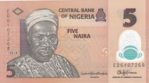 Nigeria 5 Naira Alhaji Sir Abubakar Tafawa Balewa - 2018 - Polymer - UNC