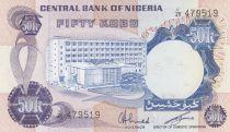 Nigeria 50 Kobo - Woodcutters - (1973-78) - P.14f -UNC