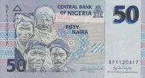 Nigeria 50 Naira - Four portraits - Signature 14 - 2006