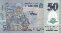 Nigeria 50 Naira - Portraits, Fishermen - Polymer - 2018 - UNC