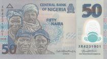 Nigeria 50 Naira - Portraits, Fishermen - Polymer - 2020 - UNC - P.40