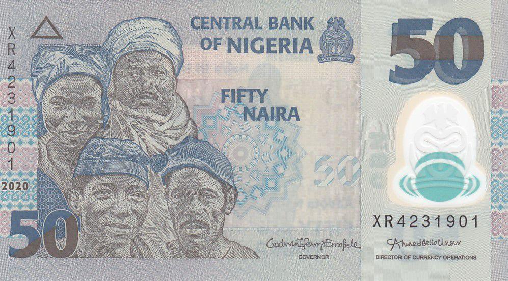 Nigeria 50 Naira - Portraits, Pêcheurs - Polymer - 2020 - Neuf - P.40