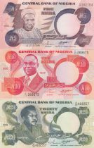 Nigeria Set of 3 banknotes  - 5, 10 and 20 Naira - 2002