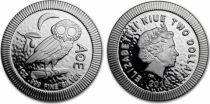 Niue 2 Dollars - 1 Oz Owl Silver - 2018