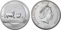 Niue island 1 Oz Elizabeth II - Hakuna Matata  Silver 2021